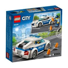 Empower young minds to get creative with this LEGO City Police Patrol Car Legos, Minifigura Lego, Lego Car, Lego City Sets, Lego Sets, Lego Police Car, Bateau Lego, Construction Lego, Police Patrol