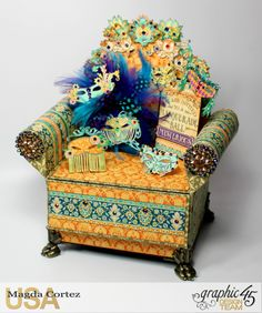 Mysterious Chair Mini Album, Midnight Mascarade, By Magda Cortez, Product by Graphic 45, Photo 01 of 13