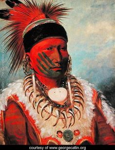 'White Cloud', Head Chief of the Iowas, 1844-45 - George Catlin - www.georgecatlin.org