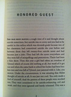 Great First Pages in Literary History. From Honored Guest by Joy Williams (review).