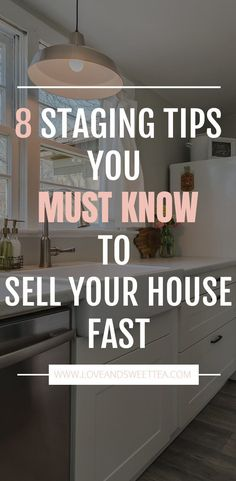 steps to stage a house in a day Saving this post about how to stage a home! It's full of home staging tips to sell house fast.Saving this post about how to stage a home! It's full of home staging tips to sell house fast. Home Selling Tips, Home Buying Tips, Selling Your House, Selling House Tips Cleaning, Home Tips, Home Staging Tipps, House Staging Ideas, Staging A Home, Kitchen Staging
