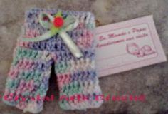 Crystal Arte Crochê: LEMBRANCINHA MINI CALÇA BABY