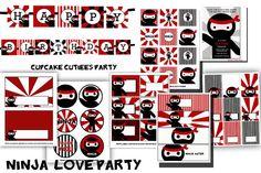 Ninja Party  Digital Party Pack set  PRINTABLE via Etsy