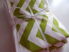 3 set Chevron Lime green and white Baby Burp by luvstobecreative, $20.00