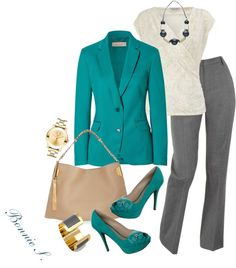 """""""work outfit"""" by bonnaroosky on Polyvore - i'd lose the matching shoes w/this outfit, tho i love them and the color"""