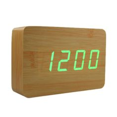 Beech Wood Clock