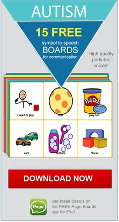 """15 FREE """"Activity & Choice"""" communication boards for Autism. Symbol-to-speech boards to use on an iPad with the FREE Pogo Boards app installed. Printable PDF files are also included."""