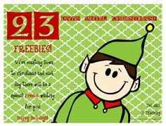 Christmas Countdown-23 Days left! Free School Christmas ideas and clipart!