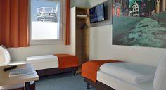 Barrierefreies Zimmer im B&B Hotel Freiburg-Nord