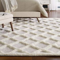 Regale Abstract Moroccan Trellis Shag Area Rug - x Ivory, Modway (Polyester) Modern Contemporary, Modern Design, Rococo Furniture, Jute Fabric, Trellis Rug, Thing 1, Modern Decor, Shag Rug, Rug Size