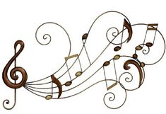 music note metal wall decor