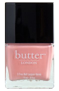 Free shipping and returns on butter LONDON Nail Lacquer at Nordstrom.com. butter LONDON nail lacquers each feature a nourishing, vitamin-infused, highly-pigmented formula that promotes nail strength and health while offering you countless colors and finishes to choose from. And because butter LONDON wants to give you color without compromise, it does not add formaldehyde, toluene or DBP to any of its nail formulas.