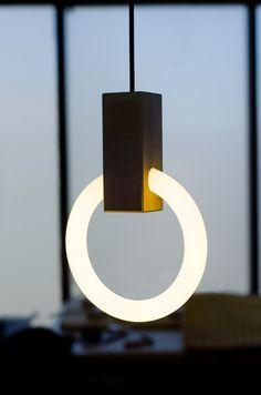 ALUMINIUM PENDANT LAMP HALO   MATTHEW MCCORMICK