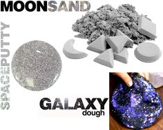 Moon Sand: only 3 ingredients 6 cups of play sand 3 cups of cornstarch 1 1/2 cups of cold water