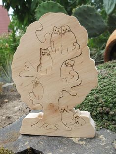 Tree with Cats Puzzle toy - Wooden waldorf toy - Eco friendly puzzle - Logic toys for children - Kids gifts by DayDreamToys on Etsy Dino Toys, Making Wooden Toys, Eco Kids, Wooden Tree, Woodworking Toys, Tree Patterns, Waldorf Toys, Scroll Saw Patterns, Puzzle Toys