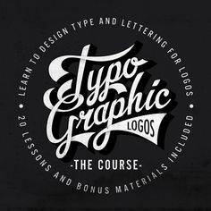 Learn to design type and lettering for logos - The Typographic Logos Course http://thevectorlab.com/pages/typography-for-logos