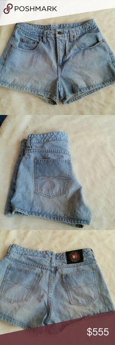 LEI vtg high waisted denim blue jeans shorts LEI vtg high waisted denim blue jeans shorts lei Shorts Jean Shorts