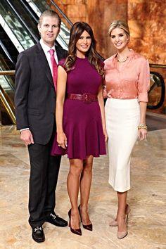 Eric Trump, Melania Trump & Ivanka Trump
