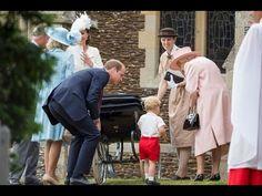 UK Princess Charlotte arrives for Royal christening - YouTube