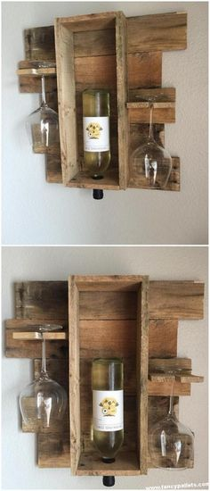 - Pallet Creation To Craft On Your Own Decoration Suggestions 2019 Diy Wood Pallet Wine Shelve - Pallet Crafts, Diy Pallet Projects, Pallet Wine, Wood Wine Racks, Pallet Creations, Diy Holz, Woodworking Projects Plans, Woodworking Classes, Diy Wood Projects