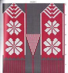 """These Norwegian-style mittens, excerpted from More Quick Knits"""" (Sterling) have cuffs of corrugated rib, a picot edging and a classic winter color c. Knitting Charts, Knitting Stitches, Free Knitting, Knitting Patterns, Crochet Mittens Free Pattern, Knit Mittens, Knitted Gloves, Quick Knitting Projects, Crochet Wrist Warmers"""