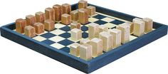 Our Chess Boards are all crafted from locally harvested sustainable lumber.  Since we don't make turnings, molds or casts we needed to come up with a way to make our pieces special. Featured on the bottom of each piece is a diagram of how that piece moves! This is a great refresher for rusty players or a wonderful tutorial for new players..  Check out the selection at www.IntraNationalMall.com