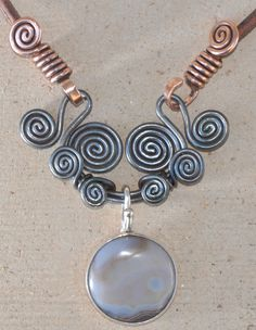 Sunrise Moon Necklace - nice wire ends