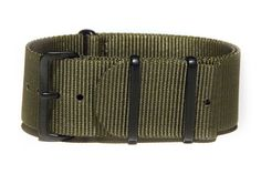 26mm wide green NATO strap with black PVD buckles
