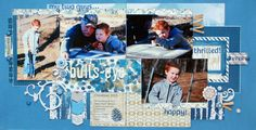 """Bull's-Eye"" - Scrapbook.com 2 page layout  Nice design"