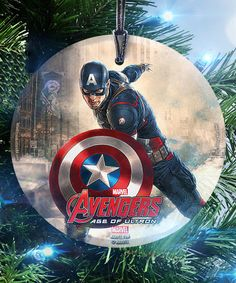 Look what I found on #zulily! Captain America StarFire Prints™ Ornament #zulilyfinds