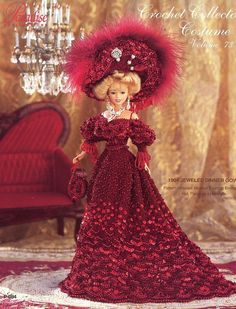 1904 Jeweled Dinner Gown for Barbie Paradise #73 Crochet PATTERN (NO DOLL) NEW
