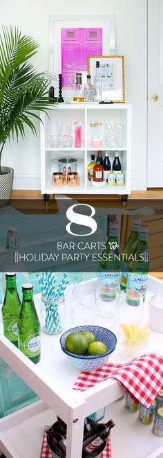 Bar carts like these 8 IKEA options are you entertaining secret weapons: They free up kitchen storage from all those liquor bottles; encourage guests to help themselves; and look so festive, sparkly, and adult-ish.