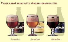 Bières trappistes Chimay de l'abbaye de Scourmont. (trappist beer - trappistenbier)