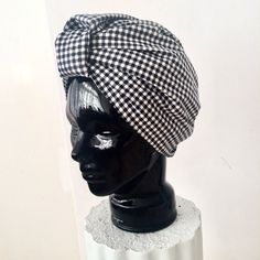 Handcrafted and lined CL Gingham Print Cotton STELLA TURBAN (The Side View)⠀⠀   #CLTurban #Turban #Turbantime #Gingham #Ginghamprint #cotton #Cottonturban #Turbanwrap #Turbannation #Turbanista #turbanchic #style #chic #vintage #classic #shades #sunglasses #Accessories #Italy #CapeTown #SouthAfrica Turbans, Side View, Printed Cotton, Sunglasses Accessories, Gingham, Shades, Italy, Stylish, Classic