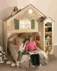 Princess Castle Playhouse Loft Bed and Luxury Baby Cribs in Baby Furniture Loft Bunk Beds, Kids Bunk Beds, Kids Bedroom Furniture, Baby Furniture, Bedroom Ideas, Bunk Bed Designs, Childrens Beds, Bed Plans, Loft Spaces