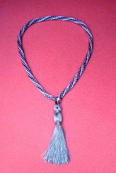 Decorative akita collar with tassel by YesDogStuff, $30.00 USD