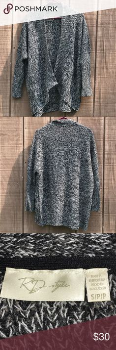 """RD Style Open Front Cardigan Size S Beautiful Open Front Cardigan by RD Style. Size Small. Measures 22"""" shoulder to shoulder, 25"""" shoulder to shoulder,  and 18.5"""" armpit to hem. RD Style Sweaters Cardigans"""