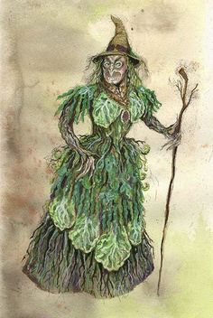 Into the Woods (Witch). PlayMakers Theatre Company. Costume design by Bill Brewer.