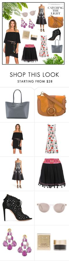 """""""catching fashioning"""" by kristen-stewart-2989 on Polyvore featuring Tom Ford, See by Chloé, T-Bags Los Angeles, Erdem, Tracy Reese, Joie, Aquazzura, Steven Alan and Stila"""