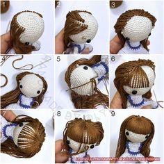 Amigurumi hair