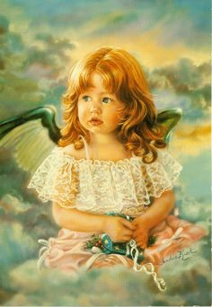 """Sandra Kuck....""""ANGEL OF SHARING""""....I have a print of this in my upstairs bathroom...."""