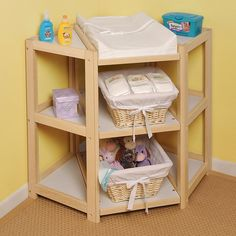 Shop for Badger Basket Diaper Corner Baby Changing Table. Get free delivery On EVERYTHING* Overstock - Your Online Baby Furniture Shop! Corner Changing Tables, Baby Changing Table, Corner Table, Baby Next, Future Baby, Kids Bookcase, Baby Supplies, Nursery Furniture, Furniture Decor