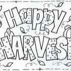 Fun to color to celebrate HARVEST. Use as a bulletin board master also. by Bunky Business...