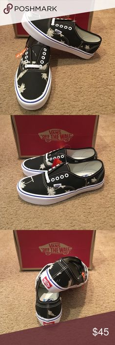 Classic Clash Authentic Lite Vans New in box. Black/White. Extremely light weight Vans Shoes Sneakers