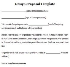 Commercial Proposal Format Gorgeous Sample Proposals Sampleproposals On Pinterest