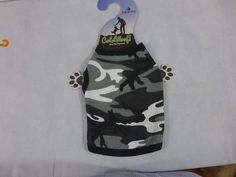 Dog Shirt Camouflage Thermal Black Gray & White Cold Woof New #Indera