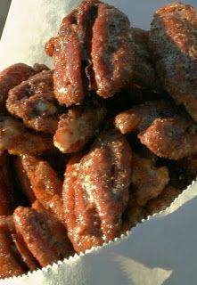 Sinful Southern Sweets: Pralined Pecans...perfect for family and friends at Christmas. Made light with Spenda!