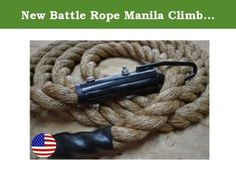"""New Battle Rope Manila Climbing Rope 20' with Clamp Strength Training Gym Rope - Bomba Gear. Package Contents: 1 Bomba Climbing Rope. Specifications: Brand: Bomba Gear Length: 20' Weight: 10 lbs (approx 0.5 lbs per foot); Material: Manila; Origin: USA Descriptions: These Bomba Climbing ropes are made with pride in the U.S.A. and are clamped with care to ensure they are beyond safe. They are Grade A 1 1/2"""" Manila, which means they will handle anything everything you throw at them and more...."""
