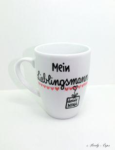 Geschenk für Freund und Ehemann, Lieblingsmann, romantische Geschenkidee / romantic gift idea for husband, couple, tea cup, coffee mug made by Lovely-Cups via DaWanda.com