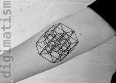 18 Minimal Tattoos That Resemble Digital Glitches and Patterns | UltraLinx